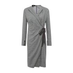 19秋冬【DesignerWomenwear】PESARO/PESARO羊毛V领系带七分袖女士连衣裙图片