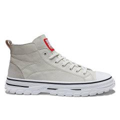 LANMARH男鞋 秋季 新款 潮鞋 中帮 韩版 潮流 板鞋 运动 休闲鞋 高帮 鞋子男YJ-P977图片