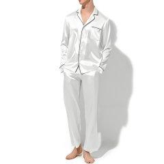 DARE ONE/DARE ONE,分类:女睡衣/家居服男款春秋施华洛世奇烫钻衬衣领长袖休闲真丝家居服套装图片