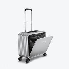 TUPLUS/途加 OSLO系列 全铝镁合金拉杆箱轮行李箱 铝框16寸旅行箱 金属万向轮商务登机箱 钻石银 适用人群:女士,男士图片