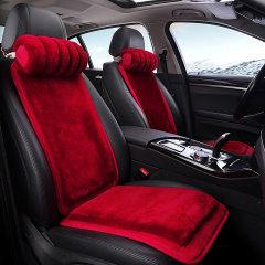 pinganzhe 汽车新款羊羔毛 羊毛座垫 汽车冬季羊毛座垫   送头枕一对图片