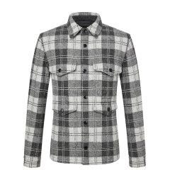 HAZZYS/哈吉斯 2019年 冬季新款格子立领夹克轻薄男士夹克休闲外套ASVZU09DU27图片