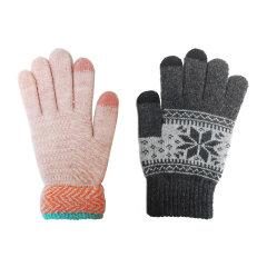 Laq Design 安卓Apple/苹果 手机电脑 触摸屏两指触控保暖手套 男女组合款图片