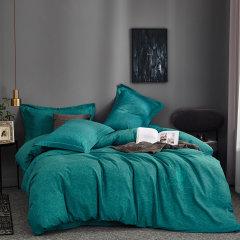 MY SIDE 秋冬新品 保暖磨毛 100%棉被套床单床上用品 全棉肌理纹绣花磨毛四件套-贝瑞卡图片