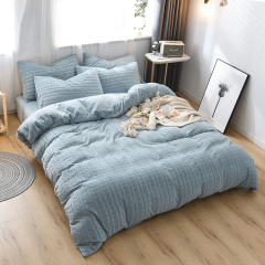 MY SIDE 秋冬新品 加厚保暖牛奶绒 被套床单床上用品 牛奶绒立体剪花四件套-美丽心晴图片
