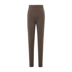 19秋冬【DesignerWomenwear】PESARO/PESARO羊绒纯色针织长裤女士休闲裤图片