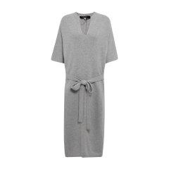 19秋冬【DesignerWomenwear】PESARO/PESARO纯羊毛V领系带中长款针织女士连衣裙图片