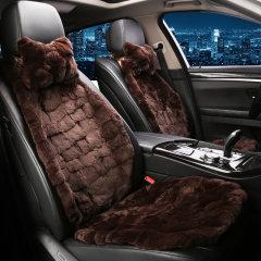pinganzhe  汽车新款 兔毛皮草全车五件套坐垫 汽车座垫  送头枕一对图片