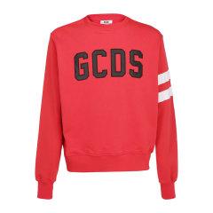 GCDS/GCDS 19秋冬 男女同款棉质logo刺绣圆领时尚休闲长袖T恤卫衣图片