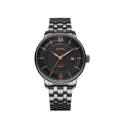 FIYTA/飞亚达 手表男酷黑男表自动机械表防水皮钢带男士手表正品图片