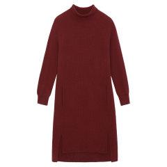 BLUE ERDOS/BLUE ERDOS 秋冬半高领单畦中长款女士连衣裙图片