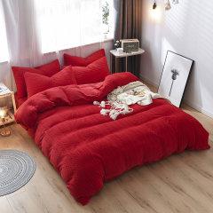 My Side 牛奶绒立体剪花四件套 秋冬保暖绒床上用品被套床单-岁岁平安图片