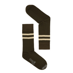 【新品】CORGI英国进口男士长袜棉袜纯色底条纹手工袜简约中长筒袜图片