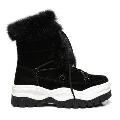 19冬新EVER UGG/EVER UGG帅酷厚底系带雪地靴 321031女士雪地靴图片