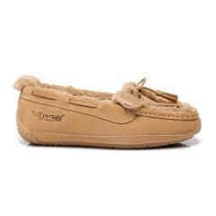 19冬新EVER UGG/EVER UGG外穿蝴蝶结羊毛豆豆鞋平底单鞋休闲鞋312007 平跟鞋图片