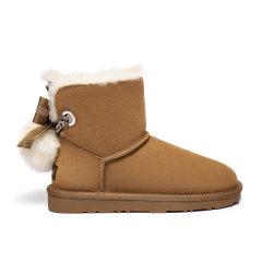 2019新款EVER UGG/EVER UGG雪地靴女短筒可爱防水靴子冬季平底短靴  321015女士雪地靴图片