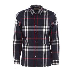 BURBERRY/博柏利 格纹弹力棉衬衫男士长袖衬衫 4006731-E19F图片
