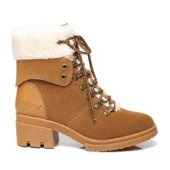 19冬新预售EVER UGG/EVER UGG户外雪地靴女短筒粗跟高马丁靴 321033图片
