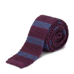 BURBERRY/博柏利  真丝蓝紫条纹男士领带