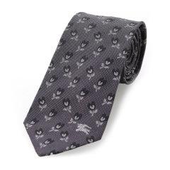 BURBERRY/博柏利 深灰色印花男士领带