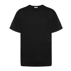 DIOR/迪奥 男士短袖T恤 纯棉黑色圆领男士短袖T恤图片