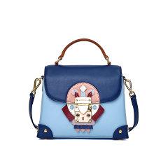 Emini House/伊米妮女士牛皮时尚个性包包创意手提休闲包呆萌舒适chic盒子包图片