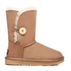 EVER UGG/EVER UGG经典木扣中筒加厚羊毛保暖雪地靴女鞋子21802 女士雪地靴图片