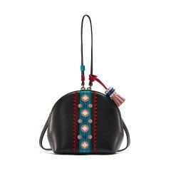 【个性创意流苏 手工贴片图案】Emini House/伊米妮女士牛皮个性创意灵动时尚牛皮贝壳包图片