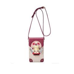 【印第安民族风】Emini House/伊米妮女士牛皮桑巴头饰精致锁扣斜跨手机包图片