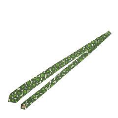 BURBERRY/博柏利桑蚕丝绿色印花男士领带