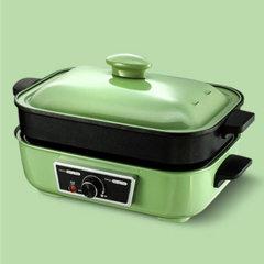 多功能料理锅电烧烤肉锅炉一体家用蒸煮 炒煎电火锅图片