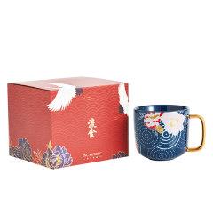 JingRepublic/共禾京品中国风马克杯中式复古插画手绘陶瓷礼品盒装国潮情侣水杯图片