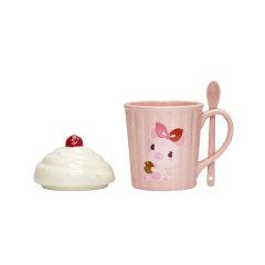 JingRepublic/共禾京品可爱卡通冰激凌陶瓷马克杯带盖带勺办公室水杯牛奶杯子图片