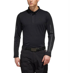 Adidas阿迪达斯高尔夫长袖T恤 男士运动休闲长袖翻领POLO衫图片
