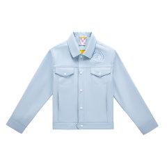 5min/5min微醺俱乐部单皮夹克浅蓝深蓝色男女士皮衣图片