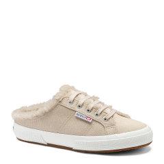 SUPERGA/SUPERGA 帆布鞋女半拖鞋2019冬季新款加绒小白鞋 女鞋图片