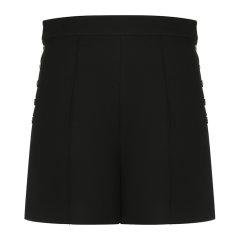 DIOR/迪奥  双侧纽扣羊毛女士黑色短裤子 941P34A1166 9000-E19F图片