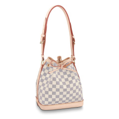 Louis Vuitton/路易威登NOE BB  女士老花经典款帆布水桶包白棋盘格单肩包斜挎包 M40817/M41220图片