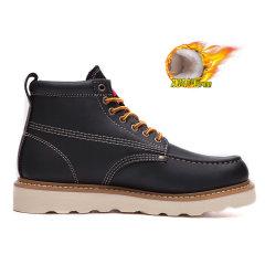 Dickies男鞋冬季加绒英伦真皮马丁靴高帮棉鞋保暖工装靴短靴男靴194M50LXS34图片