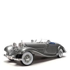 奔驰500K合金仿真汽车模型摆件礼品工艺摆件黑色白色图片