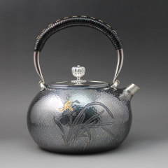 Zhuyintang/竹银堂  古芸社株式会社 出品 一张打银壶 茶壶 煮水壶 1200ml图片