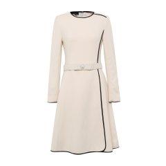 19秋冬【DesignerWomenwear】PESARO/PESARO圆领拉链中长款女士连衣裙图片