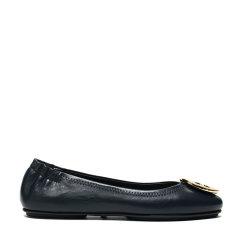 【现货秒发】Tory Burch/汤丽柏琦 女士LOGO装饰皮革平底鞋船鞋 50393图片