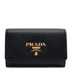 PRADA/普拉达 女士经典LOGO标识纯色牛皮折叠钱包名片夹手拿包女包 1MH027-QWA多色可选图片