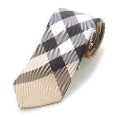 BURBERRY/博柏利 男士卡其色经典格纹领带 3979213