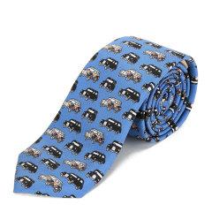 BURBERRY/博柏利 男士蓝色卡通印花丝质领带 8002106