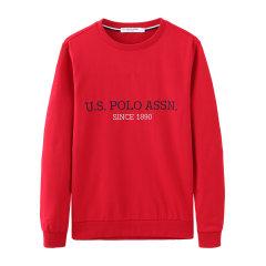 U.S.POLO ASSN./U.S.POLO ASSN.美国马球协会男士圆领长袖套头上衣秋季打底英文字母男卫衣图片