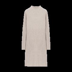 BLUE ERDOS/BLUE ERDOS 19秋冬 半高领抽条纯羊绒女士连衣裙图片