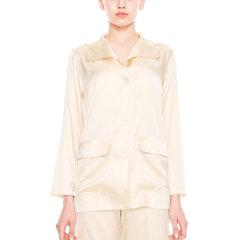 【DesignerWomenwear】DAREONE/DAREONED-light系列真丝长袖睡衣上衣女睡衣/家居服图片