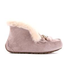 19冬新Ozwear/Ozwear 女款拉齐娜翻毛豆豆鞋 OZW116平跟鞋图片